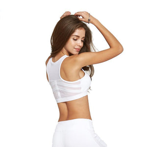 Run This City Zipper Workout Bra