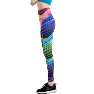 Hippie Rainbow 3D Print Leggings