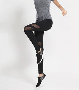 Power Mesh splice leggings