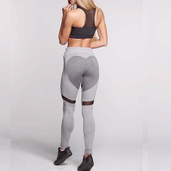 Heart Mesh Push Up Fitness Workout Leggings