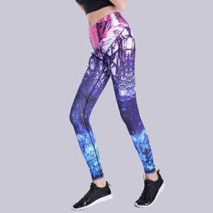 Abstract Boost 3D Print Fitness Leggings