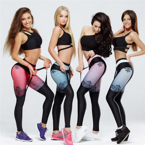 Exclusive Designer High Waisted Push Up Garter Fitness Leggings