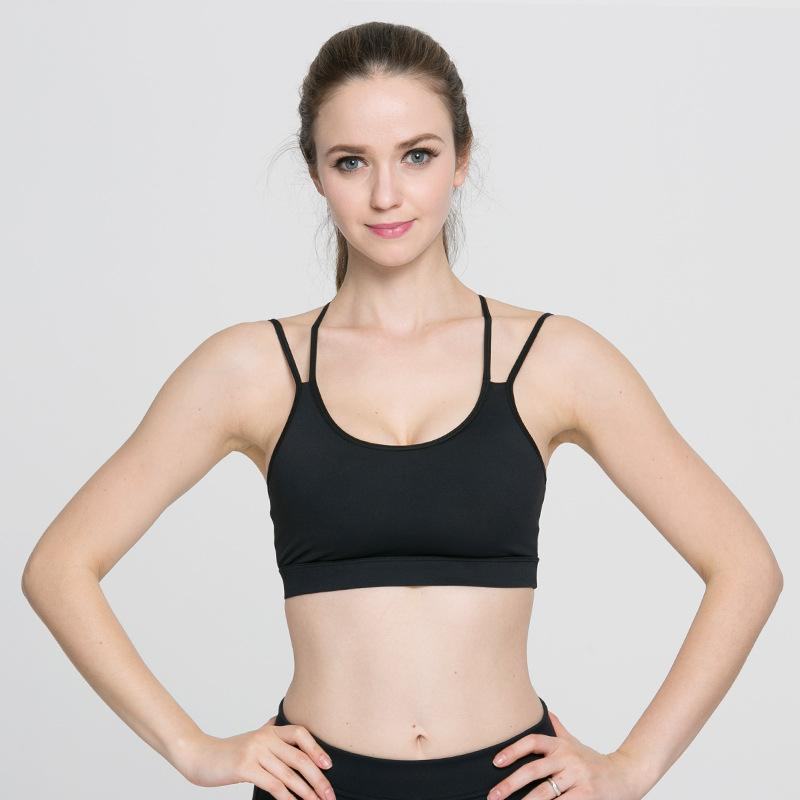 Allure Black Workout Crop Top