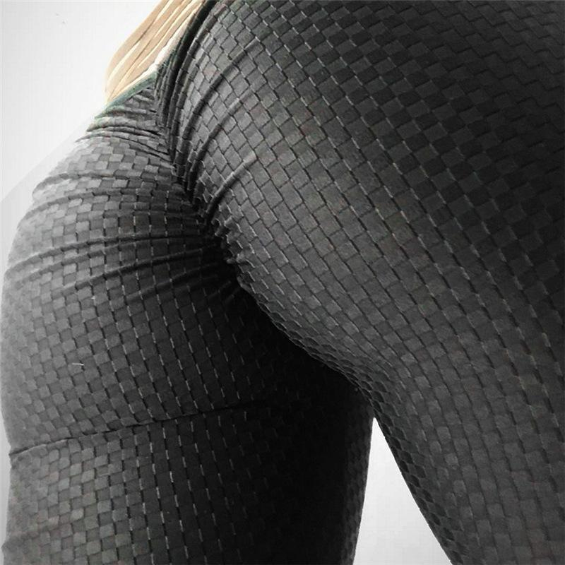 NEW Designer High Waist Anti-cellulite Textured Push Up Leggings