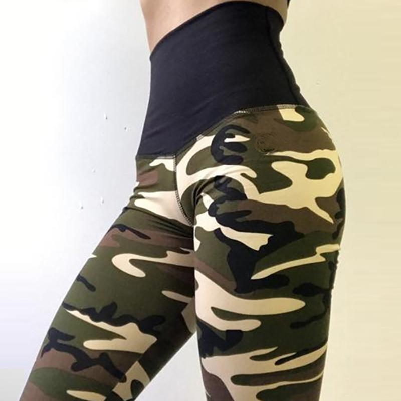 PureGemCo Designer Scrunch Booty Camouflage Tummy Control Push Up Leggings