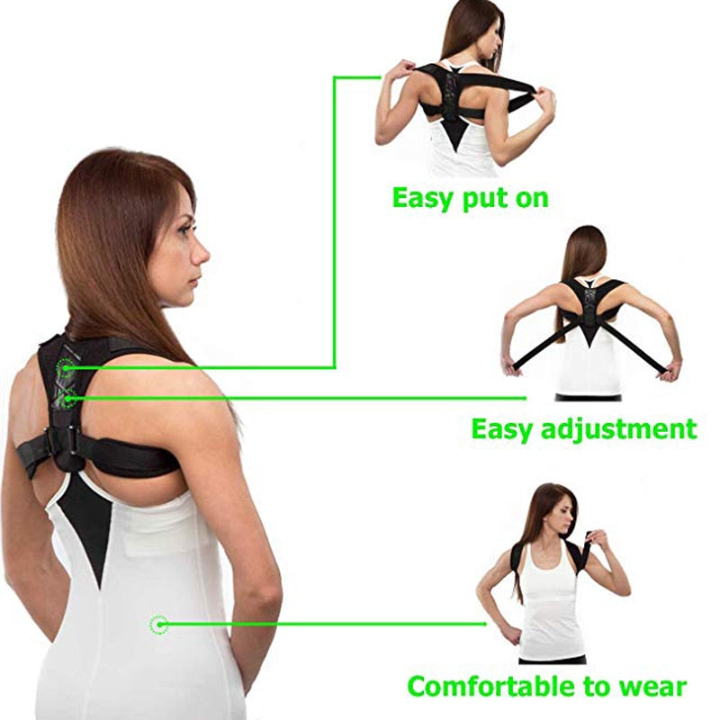 PureGem Posture Corrector Over Shoulder Back Brace(Adjustable to All Body Sizes)