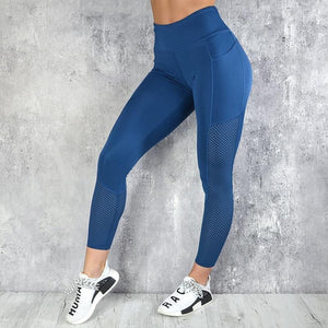 Quick-drying Mesh Pocket Sports Yoga Push Up Fitness Leggings