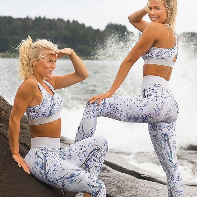 Shape Floral Workout 2 Piece Set