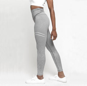 High Waist Glittered Workout Leggings