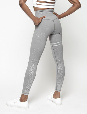High Waisted Glittered Push Up Workout Leggings