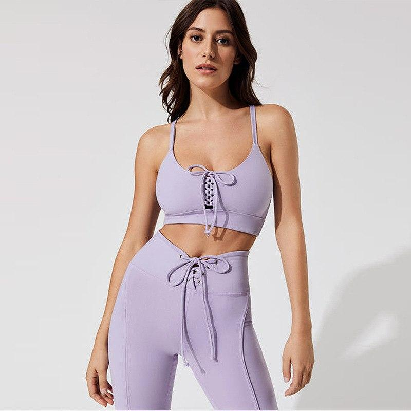 Sexy Laced Up Fitness 2 Piece Set