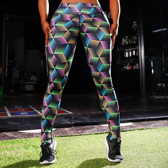 High Energy 3D Print Fitness Leggings