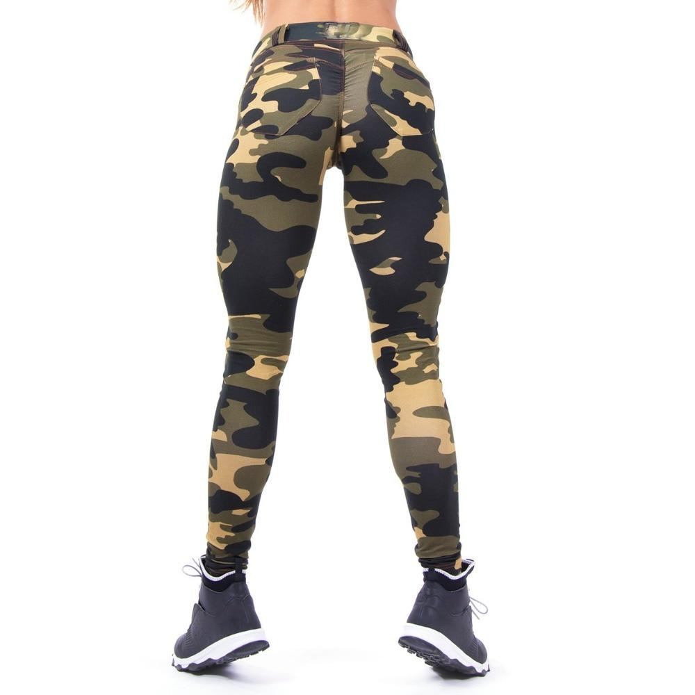 Iconic Army Camo Bum Scrunch Pocket Push Up Workout Leggings
