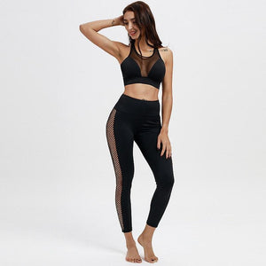 High Waisted Bum Scrunch Mesh Patchwork Push Up Workout Leggings