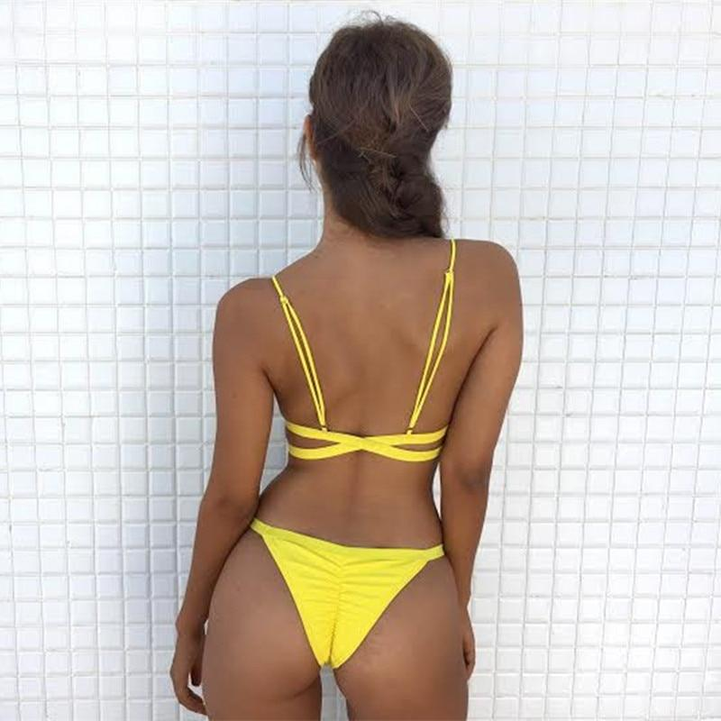 Yellow Express Push Up Cheeky Bikini Set