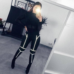 Fly Nite Reflective Print Leggings