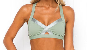 Active Key Cross Strap Workout Two Piece Set