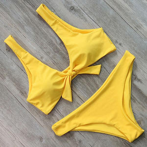 Two Piece Sun Knot Push Up Brazilian Bikini