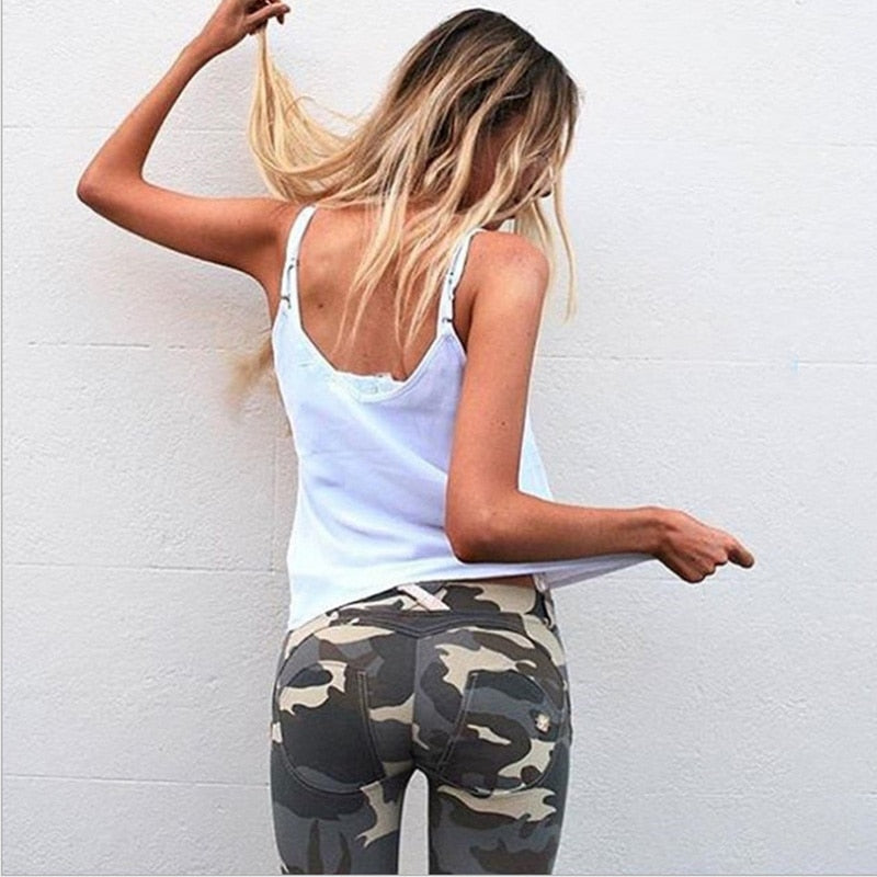 Extreme Jungle Camo Push Up Workout Leggings