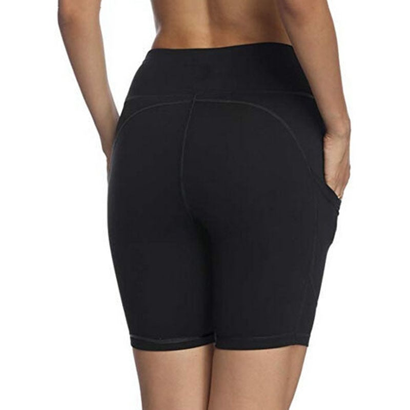 High Waisted Side Phone Pocket Fitness Shorts