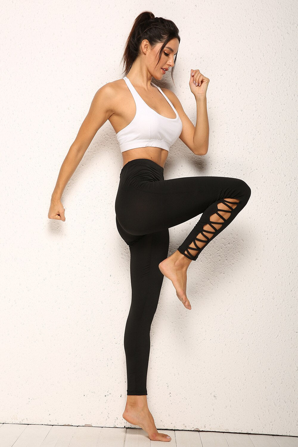 Oblique Fit Workout Leggings