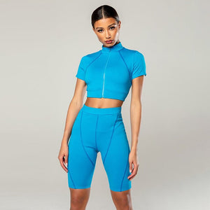 Two Way Zipper Tracksuit 2 Piece Set