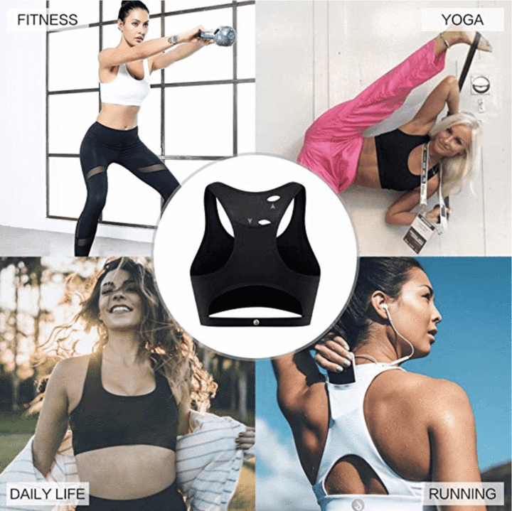 High Compact Anti-Sag Pocket Push Up Sports Bra