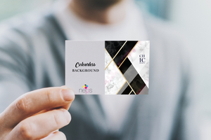 Solid Business Card Backgrounds: Chic or Colourless?