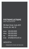 C21 Business Card Template - C21-009