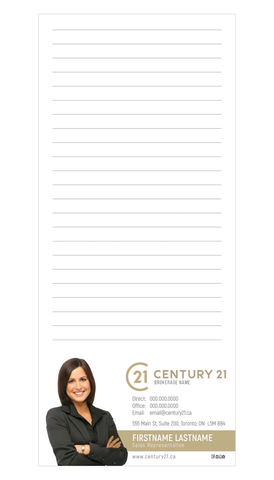 "C21 Note Pads - 3.5"" x 8.5"" - Slim 3 - New Era Print Solutions"