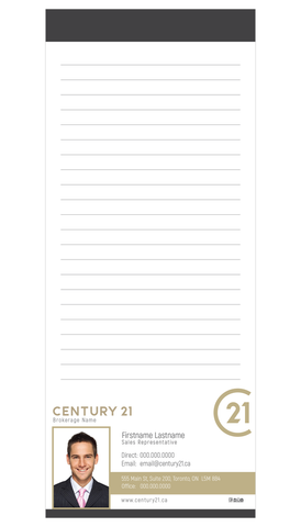 "C21 Note Pads - 3.5"" x 8.5"" - Slim 4 - New Era Print Solutions"