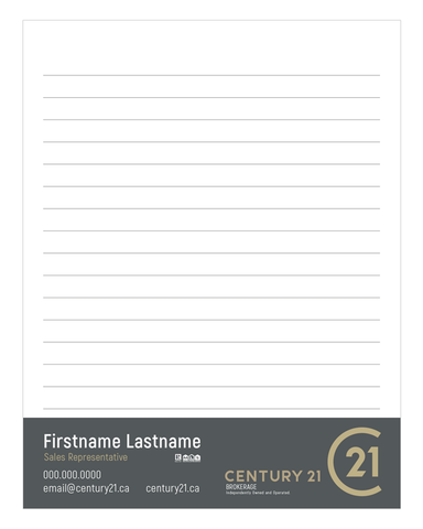 "C21 Note Pads - 4.25"" x 5.5"" - Quarter Page 2 - New Era Print Solutions"