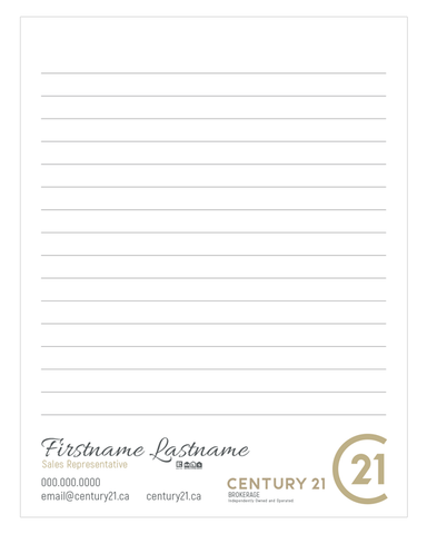"C21 Note Pads - 4.25"" x 5.5"" - Quarter Page 3 - New Era Print Solutions"