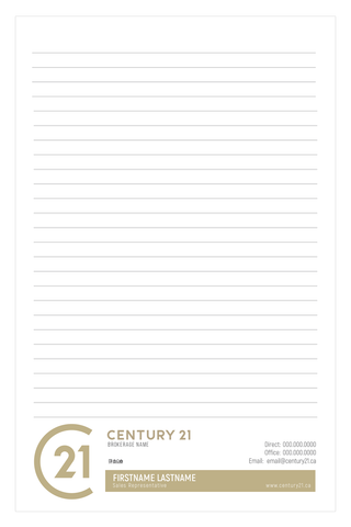 "C21 Note Pads - 5.5"" x 8.5"" - Half Page 2 - New Era Print Solutions"