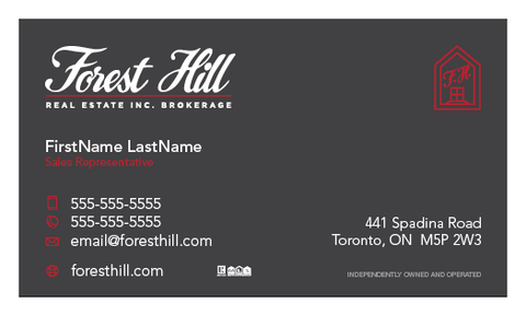 Forest Hill Business Cards - 010