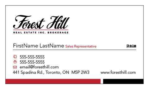 Forest Hill Business Cards - 002