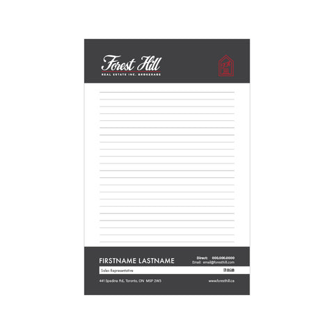 "Forest HIll Notepads - 5.5"" x 8.5"" - Half Page 1"