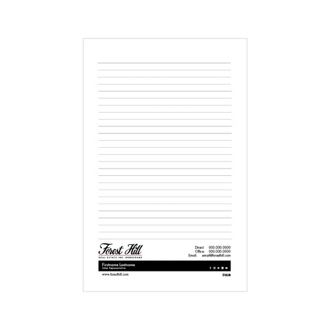 "Forest HIll Notepads - 5.5"" x 8.5"" - Half Page 2"