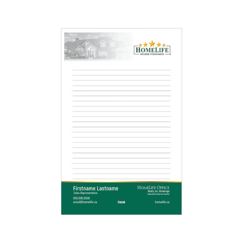 "HomeLife Notepads - 5.5"" x 8.5"" - Half Page 1"