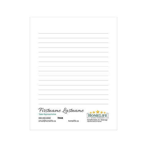 "HomeLife Notepads - 4.25"" x 5.5"" - Quarter Page 3"