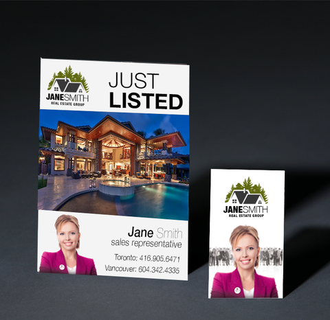 realtor business card and postcard -neps