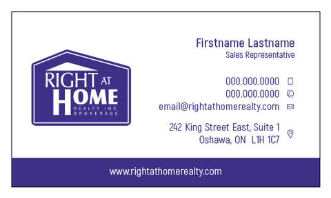 Right At Home Business Card Template - RAH-001