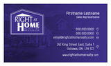 Right At Home Business Card Template - RAH-002