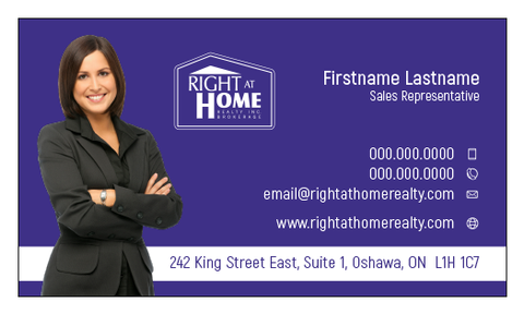 Right At Home Business Card Template - RAH-004