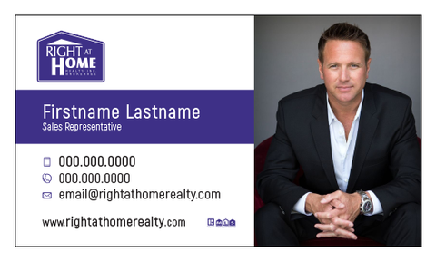 Right At Home Business Card Template - RAH-009