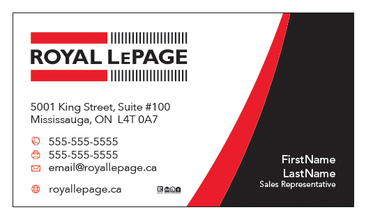 Le Page Template   Royal Lepage Business Card Template Rlp 008