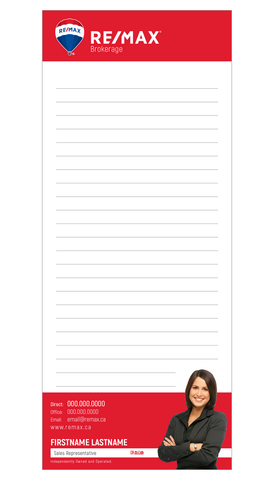 "Remax Note Pads - 3.5"" x 8.5"" - Slim 1"