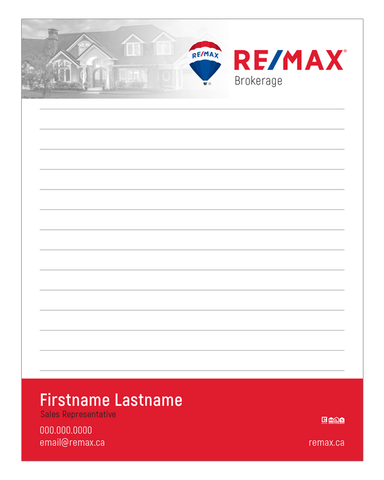 "Remax Note Pads - 4.25"" x 5.5"" - Quarter Page 1"