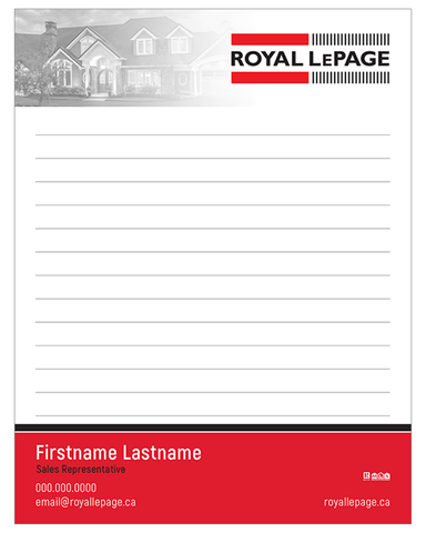 "RLP Note Pads - 4.25"" x 5.5"" - Quarter Page 1"