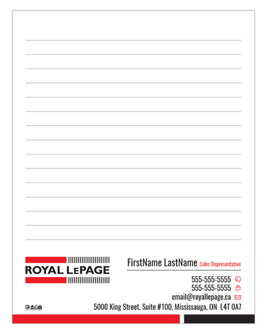 "RLP Note Pads - 4.25"" x 5.5"" - Quarter Page 2"